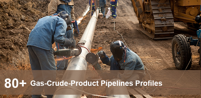 Gas Crude Product Pipelines Profiles